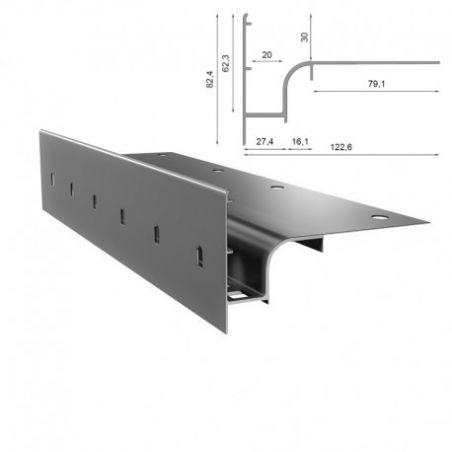 Renoplast profil okapowy W30 prosty