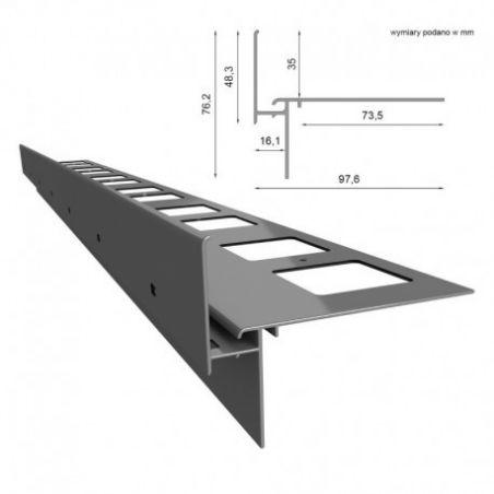 Renoplast-Profil okapowy W35 - do posadzek podniesionych-wentylowanych
